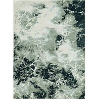 "Silver Rug - 3'3"" x 4'11"" Polyester Silver Area Rug"