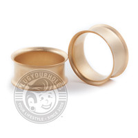 Matte Gold Double Flared Steel Tunnels