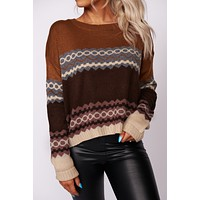 Napoleon Vintage Pullover Sweater (Camel Combo)