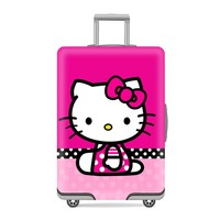 Thicker Cartoon Hello Kitty Luggage Protective Cover Women Elastic Printing Dust Rain Bags Travel Trunk Case Suitcase Accessory