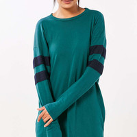 Truly Madly Deeply Oversized Varsity Stripe T-Shirt Dress - Urban Outfitters