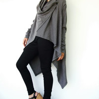 NO.61  Dusty Grey Cotton-Blend Versatility Cardigan