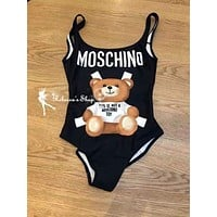 Moschino Cute Bear Prints Swimsuit