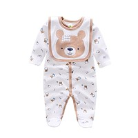 Baby Rompers animal infant Boy rompers Jumpsuit+bib babies baby wear Baby girl Rompers born Clothes
