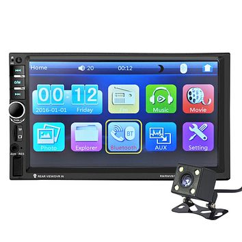 7 Inch Bluetooth TFT Screen Car Audio Stereo MP4 MP5 Player Microphone AUX