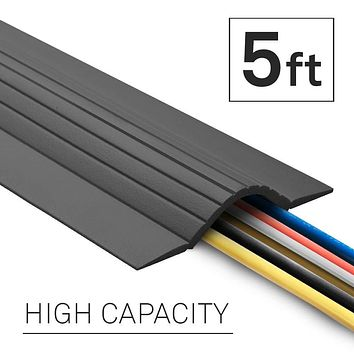 UT Wire 5-Feet Cable Blanket High Capacity Low Profile Cord Cover and Protector, Grey 5 ft