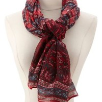 Multi Paisley Print Wrap Scarf by Charlotte Russe