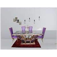 Great Quality Bright Marble Dining Table