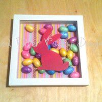 Easter Decor - Shadow Box, Easter Decorations, Shadow Box Art, Wall Frames, Holiday Decor