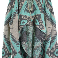 Fall Adventure Cardigan - Mint