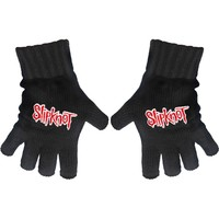 Slipknot Logo Knit Gloves Black