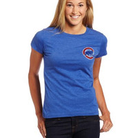 MLB MCN1-667A-EJ3-3UA-L Alfonso Soriano Chicago Cubs Women's Short Sleeve Crew Neck Tee (Deep Royal Heather, Large)