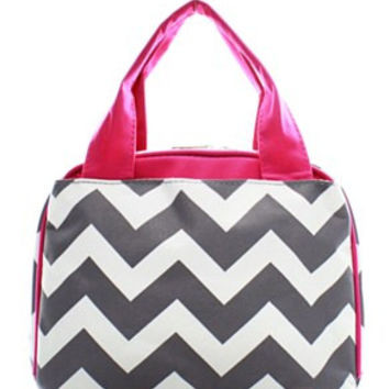 Lunch Tote Chevron - 2 Color Choices