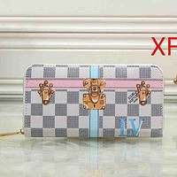 Louis Vuitton LV Women Clutch bag Leather Wallet Purse