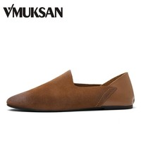 VMUKSAN Brand Men's Loafers Leather Classic Moccasins 2017 Men Leather Casual Shoes Slip On