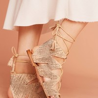 Bibi Lou Metallic Gladiator Sandals