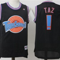 NBA TuneSquad Basketball Shirt Jersey TAZ ! Black  Jersey