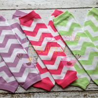 Chevron leg Warmers  pick 1 color pink by MyLilSweetieBoutique