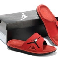 Nike Air Jordan Red Casual Sandals Slipper Shoes Size US 7-13