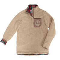 Monogrammed Reversible Sherpa Pullover | Marleylilly