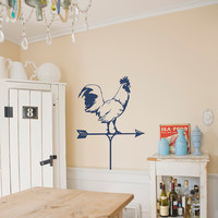Rooster Wind Weathervane Wall Decal