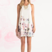 Gracie Ivory Floral Shift Dress