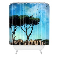 Belle13 The Cat King Of Rome Shower Curtain