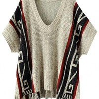 Floral High-Low Tassel-Trim Sweater - OASAP.com