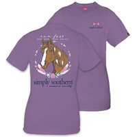 Simply Southern Preppy Horse Feathers T-Shirt