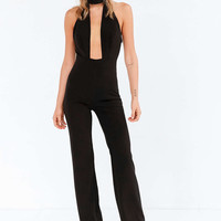 Capulet Plunging Cutout Mock Neck Jumpsuit - Urban Outfitters
