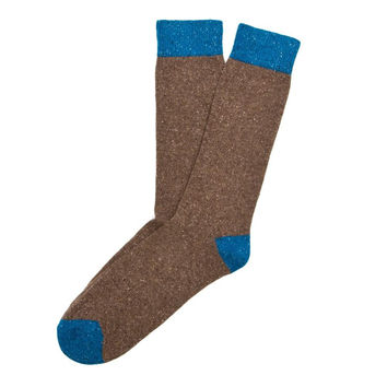 Etiquette Mens Tweed Rib Cashmere Blend Traditional Casual Socks