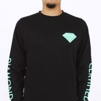 Diamond Supply, Certified Crewneck - Black - Outerwear - MOOSE Limited