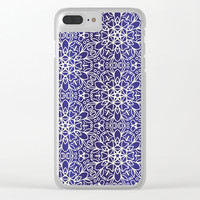 Midnight Flowers Clear iPhone Case by Tanyadraws