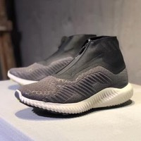 """""""Adidas Alphabounce"""" Men Casual Fashion Multicolor Zip High Help Sneakers Running Shoes"""