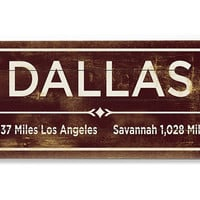 """Dallas"" Wall Sign, Natural, Signs"