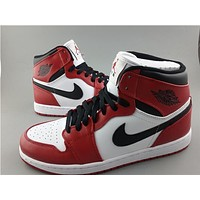 Air Jordan 1 white red Basketball Shoes 36-47