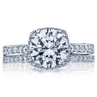 2.40ct H-VS1 18kt White Gold Halo Round Diamond Engagement Ring Tacori JEWELFIRME BLUE