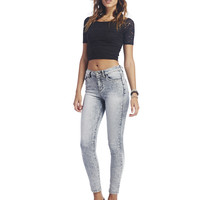 Roll Cuff High Waisted Jeans | Wet Seal