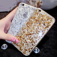 New Shiny Sequin Glitter Powder Skin Soft TPU Gel Phone Case for iPhone 5 5S SE 6 6S 7 Plus Bling Stars Paillette Back Cover
