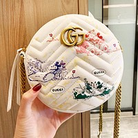 GUCCI x Disney New Women Shopping Bag Cute Circular Satchel Crossbody Shoulder Bag