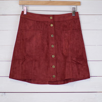 Buttercup Button Up Skirt