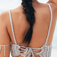 Crochet Backless Bralet Top