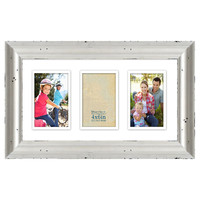 9 X 17-in Double Matted Whitewash Collage Frame