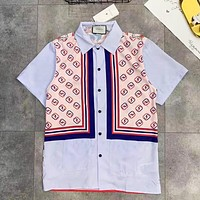 GUCCI New fashion more letter print couple top t-shirt