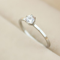 womens wedding ring with diamond gift-119