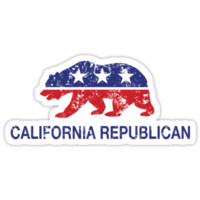 California Republican Political Bear Distressed