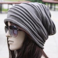 Chic Solid Color Hemming Knitted Beanie