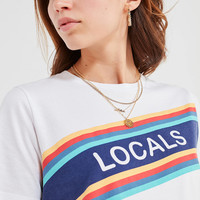 Locals Placement Stripe Tee | Urban Outfitters