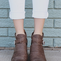 Path to My Soul Booties - Taupe