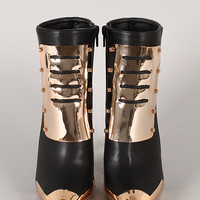 Privileged Bananas Leatherette Pointy Toe Stiletto Bootie